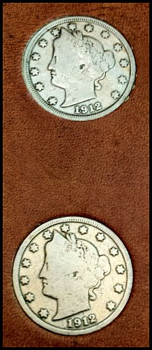 """Vintage Liberty Head Nickel 9-Coin Collection: """"49;ers"""": 1910 (XF) to 1912 (G-VG"""