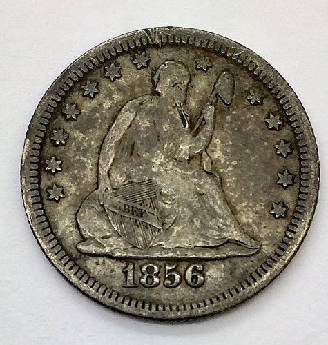 1856 Seated Liberty Quarter