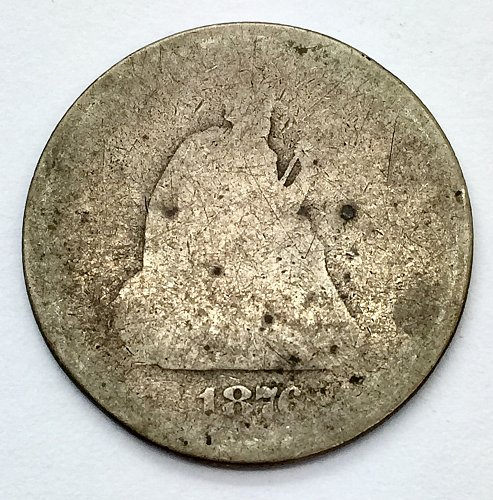 1876 S Seated Liberty Quarter