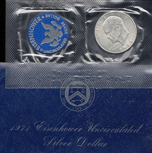 1971 s   Eisenhower  Peace Silver Dollar    /    WM-31