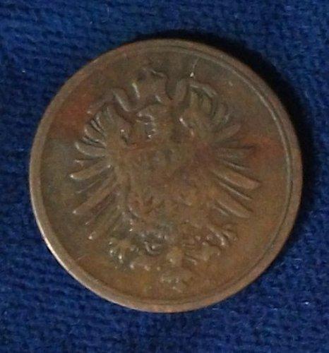 1875G Germany/Empire Pfennig VG
