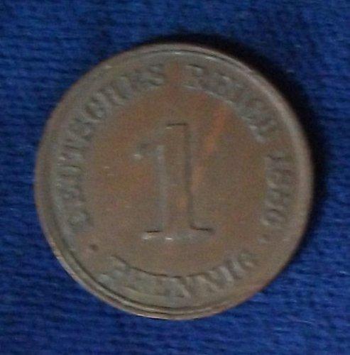 1886J Germany/Empire Pfennig XF