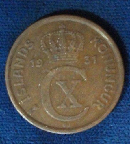 1931(h) N-GJ Iceland 5 Aurar VF