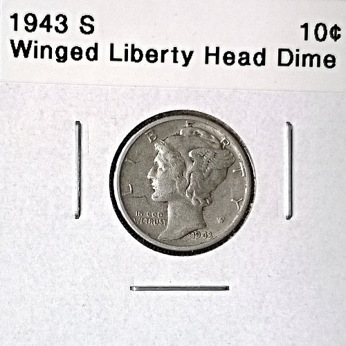 1943 S Winged Liberty Head Dime - 6 Photos!