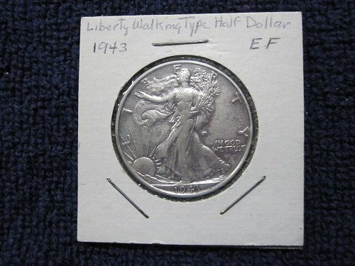 1943-P Liberty Walking Half Dollar