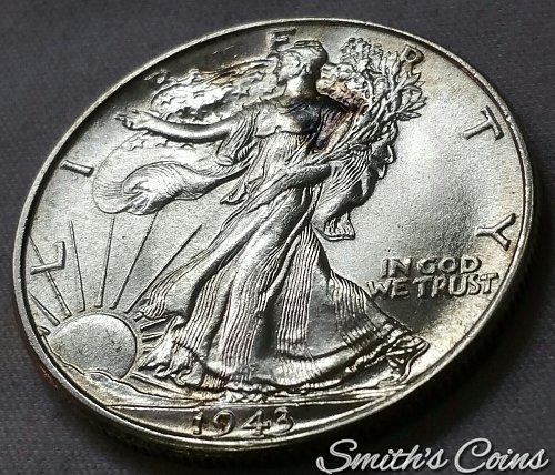 1943 Walking Liberty Half Dollar - BU