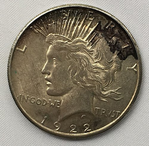 1922 S Peace Dollar - Toned