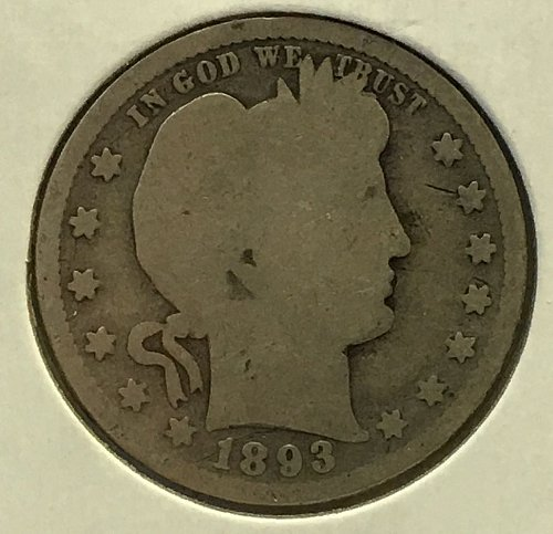 1893 P Barber Quarter