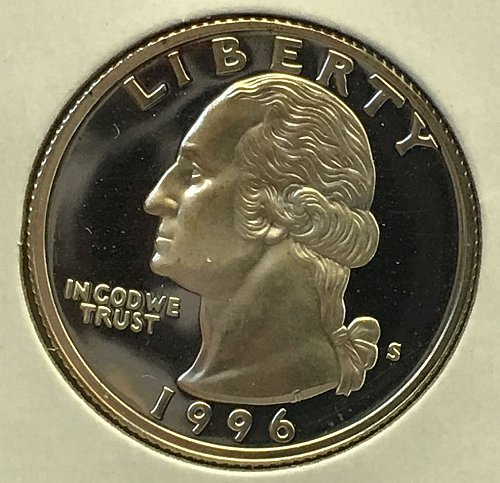 1996 S Washington Quarter - Silver Proof
