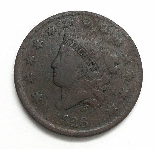 1826 Coronet Liberty Head Large Cent