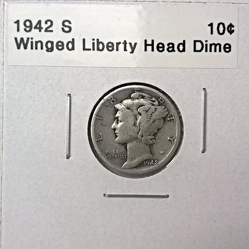 1942 S Winged Liberty Head Dime - 6 Photos!