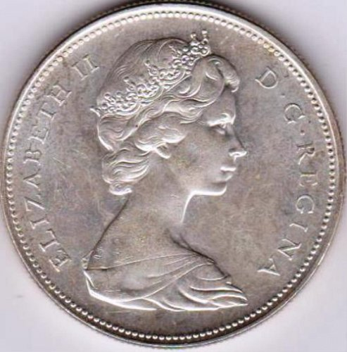 1966 Canadian Silver Dollar
