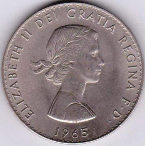 1965 WINSTON CHURCHILL, ELIZABETH II COMMEMORATIVE COIN