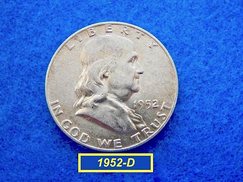 1952-D Franklin Half   ★  (XF-40) Circulated Condition  (#1708)√