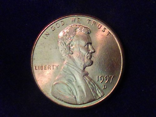 1997 D one cent Lincoln Memorial
