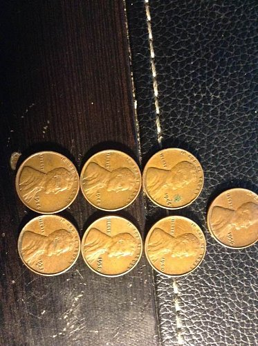 7 wheat pennies 40s and 50s