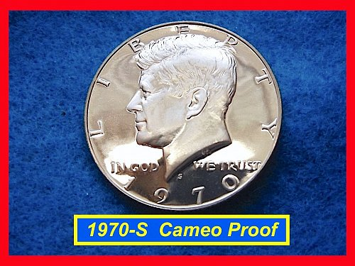1970-S Proof Kennedy Half • • GEM Cameo Coin   (#1634)•