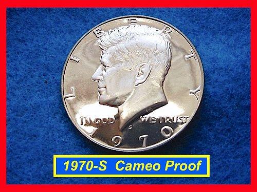 1970-S Proof Kennedy Half •• GEM Cameo Coin   (#1634)•