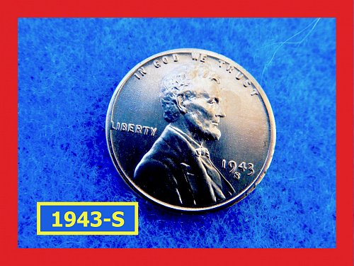 1943-S   WWII STEEL Penny Uncirculated   (#7175)•