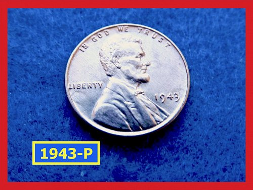1943-P   WWII STEEL Penny Uncirculated   (#7176)•