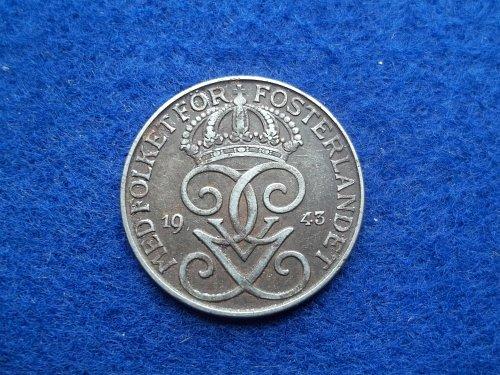 DENMARK 1943 5 ORE CIRCULATED WORLD COIN