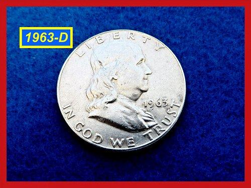 1963-D  Franklin Half Dollar ☆ ☆ ☆ (#1728)