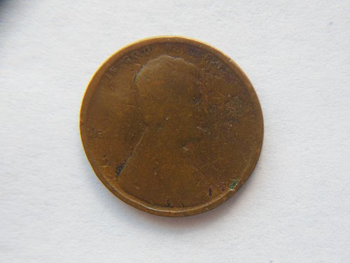 1909-P Lincoln Wheat Cent 1st Year Made Error Coin (Struck through Grease) both