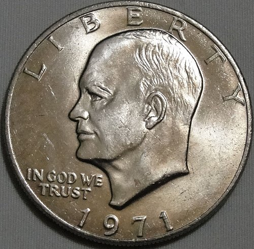 Eisenhower >> 1971-P : Type 2 - Common Reverse