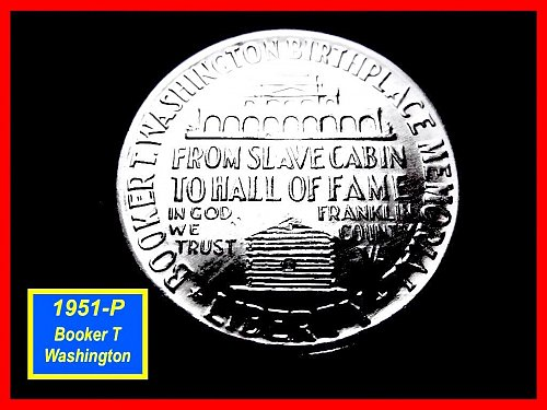 "1951 Booker T Washington ☆ Commemorative Half ☆ ""BU""☆  (#1481)"