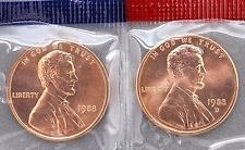 1988  P&D   LINCOLN CENT'S