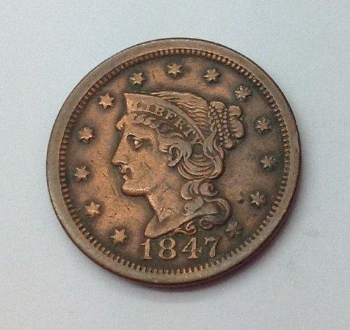 1847 P Large Cent
