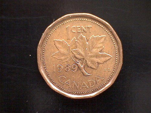 1989 CANADA ONE CENT QUEEN ELIZABETH 11