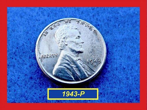 World War II Steel Penny  ✬  ✬ 1943-P Steel Penny     (#7182)a