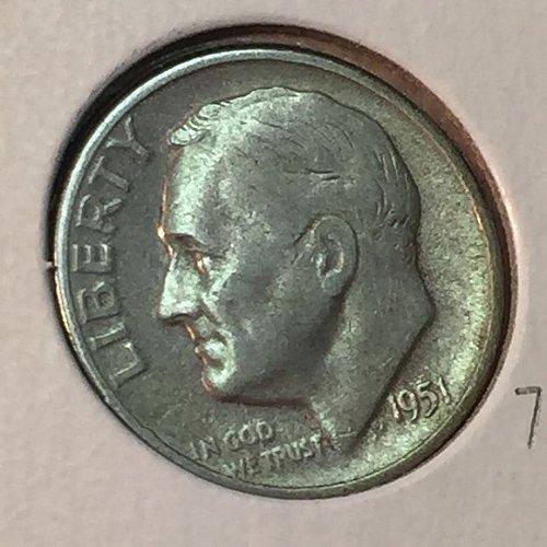 1951-S Roosevelt Dime (41121)