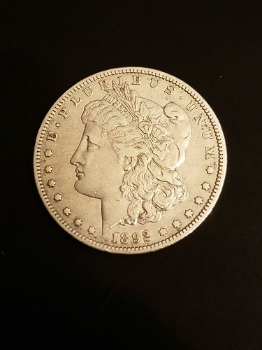 1892 S San Francisco Mint Morgan Silver Dollar Good Grade Uncleaned