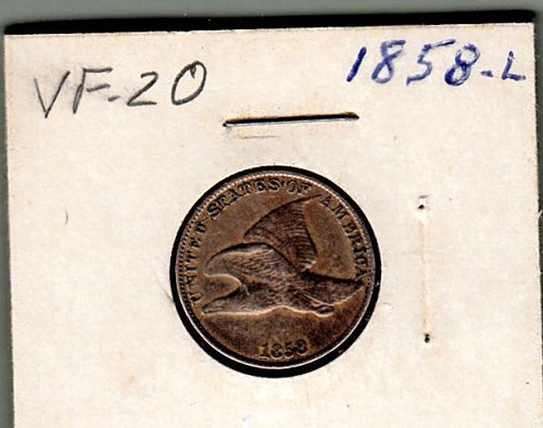 Flying Eagle Cent of 1858 Large Date  /  WM-36