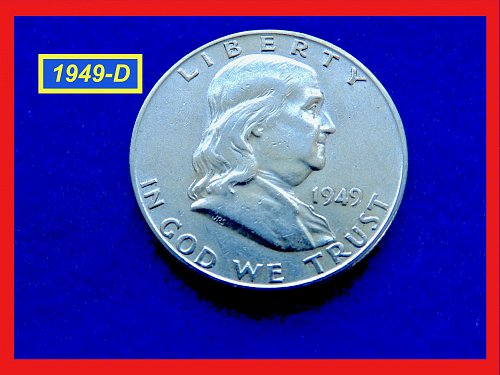 "1949-D Washington Quarters ★ GRADE: ""XF-40/45"" ★  (#1736)•"