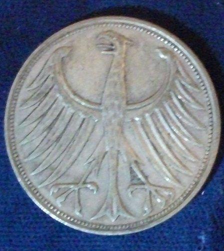 1951F Germany/Federal Republic 5 Mark F-VF