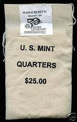 $900,000.00 POTENTIAL? UNOPENED MINT BAG - 2000 D MASS