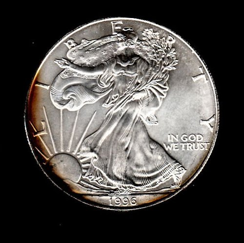 1996 American Silver Eagle. Beautiful toning /   DR-28