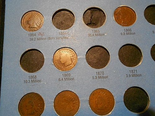 1857-1909 Indian Head cent collection  38 of 58 coins