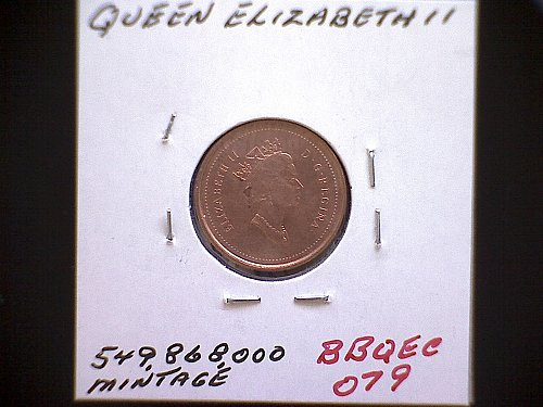 1997 CANADA ONE CENT QUEEN ELIZABETH 11