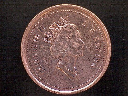 1999 CANADA ONE CENT QUEEN ELIZABETH 11