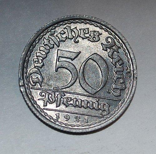Germany 50 pfennig 1921 f