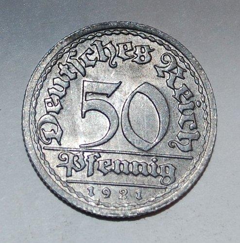 Germany 50 pfennig 1921f