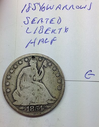 1854 O Seated Liberty Half Dollar