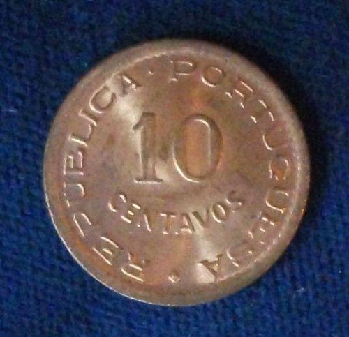 1949 Angola 10 Centavos UNC