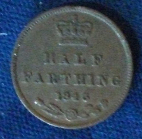 1843 Great Britain 1/2 Farthing VF