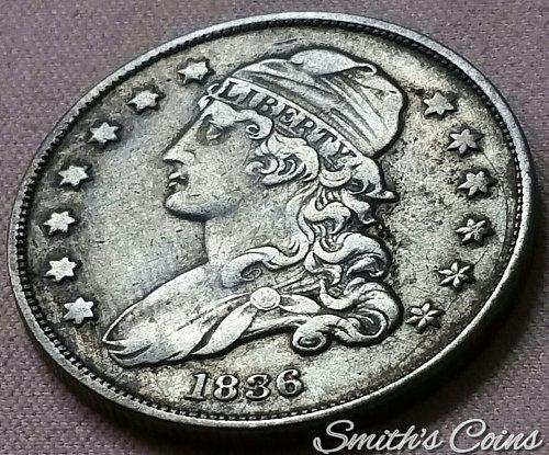 1836 Capped Bust Quarter ~ B-2, R-3 ~ XF