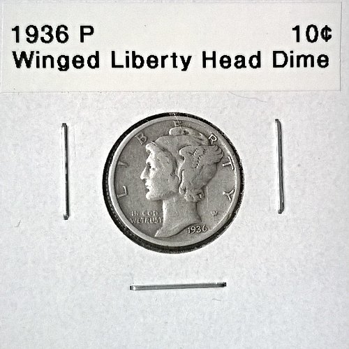 1936 P Winged Liberty Head Dime - 6 Photos!